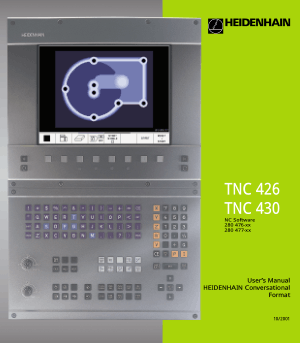 Heidenhain TNC 430 Conversational Format Manual