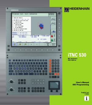 Heidenhain iTNC 530 ISO Programming Manual