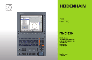 Heidenhain iTNC 530 Pilot smarT.NC Manual 340 494-07