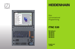 Heidenhain iTNC 530 Pilot Conversational Programming Manual