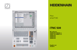 Heidenhain iTNC 530 Pilot smarT.NC Manual 340494-08
