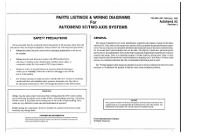 Hurco Parts Listings & Wiring Diagrams for Autobend