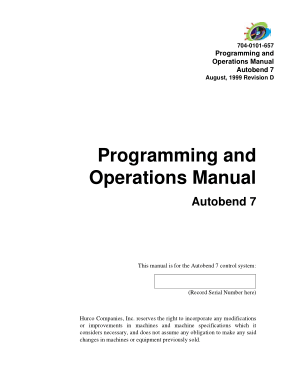 Autobend 7 Programming and Operations Manual