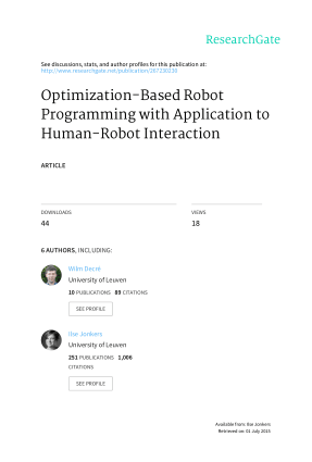 Optimization-Based Robot Programming with Application to Human-Robot Interaction
