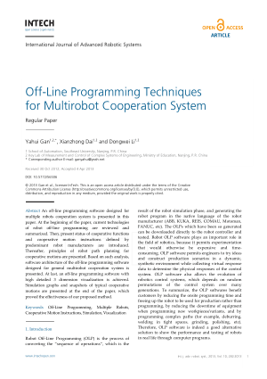 Off-Line Programming Techniques for Multirobot Cooperation System