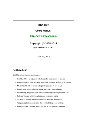 IRBCAM Users Manual
