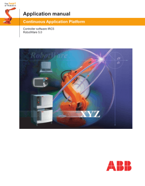 ABB Application Manual Robotware 5.0 Controller IRC5 3HAC 16584-1