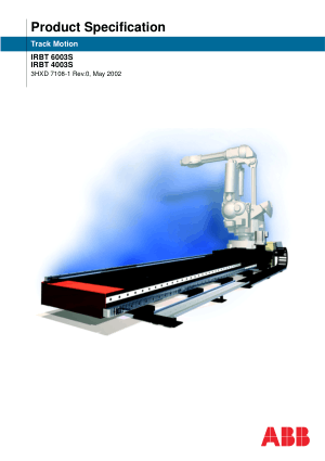 ABB Track Motion Product Specification IRBT 6003S