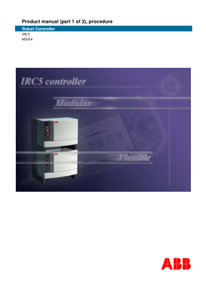 ABB IRC5 Robot Controller Product Manual Part1 Procedure
