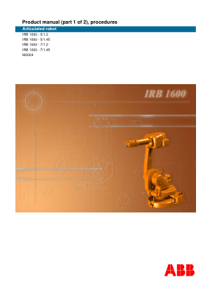 ABB IRB 1600 Product Manual