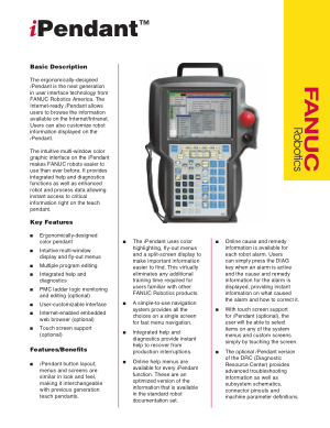Fanuc iPendant Basic Description