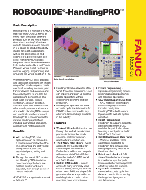 Fanuc ROBOGUIDE HandlingPRO Basic Description