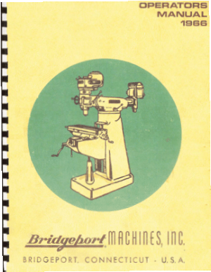 1966 Bridgeport Operators Manual