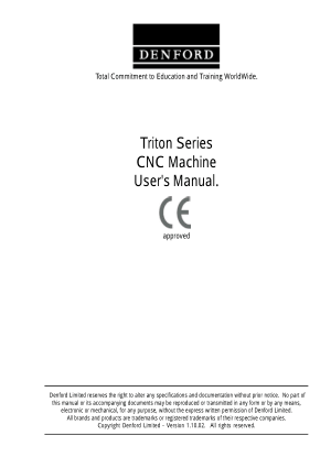 Denford Triton Series Users Manual