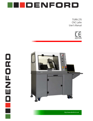 Denford TURN 270 CNC Lathe Users Manual