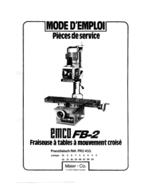 EMCO FB-2 Pieces de Service