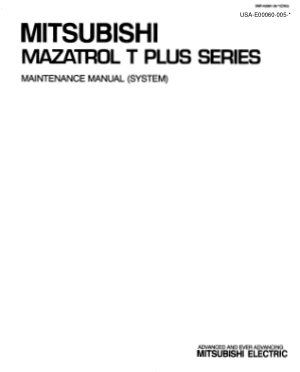 MITSUBISHI MAZATROL T PLUS Maintenance Manual