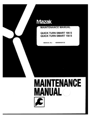 Mazak Maint Manual Quick Turn Smart 100 S 150 S  X and Z Servo  Battery Replace