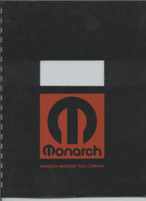 Monarch Model EE Tool Makers Lathe Operators Manual