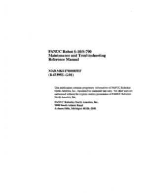 Fanuc Robot S-10 S-700 Maintenance Manual