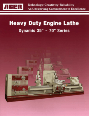 ACER Heavy Duty Engine Lathe Dynamic 35-70 Series