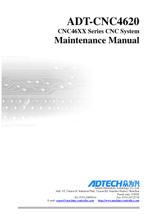 ADT-CNC4620 CNC46XX Series CNC System Maintenance Manual