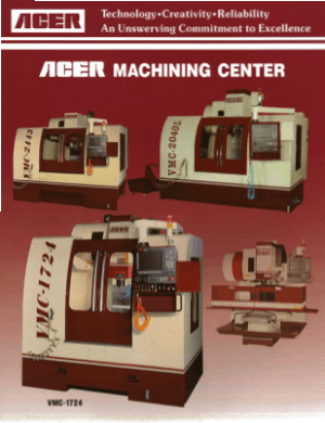 ACER Machining Centers Heavy Cutting Heavy Loading