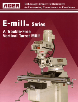 ACER E-Mill Series Vertical Turret Mill