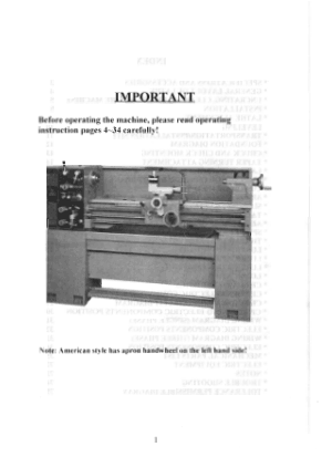 ACER Lathe Dynamic 1340G 1440E Series User Manual