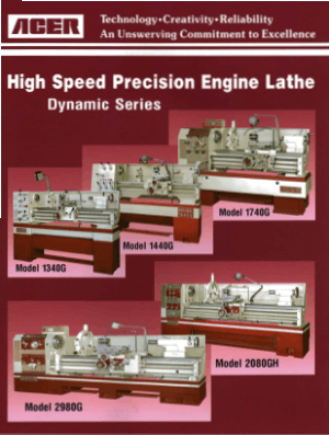 ACER High Speed Precision Engine Lathe Dynamic Series
