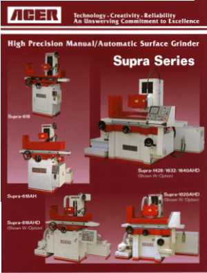 ACER Surface Grinders Supra Series