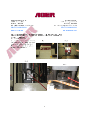 ACER Machining Center Procedure to Adjust Tool Clamping and Unclamping