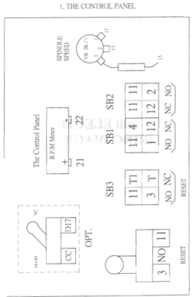 ACER Milling Machine Electrical Layout