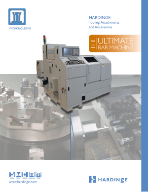 HARDINGE Tooling Attachments and Accessories