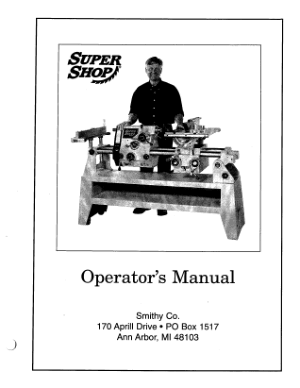 Smithy SuperShop Operator Manual