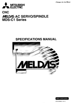 Mitsubishi CNC MELDAS AC Servo Spindle MDS-C1 Series Specification Manual