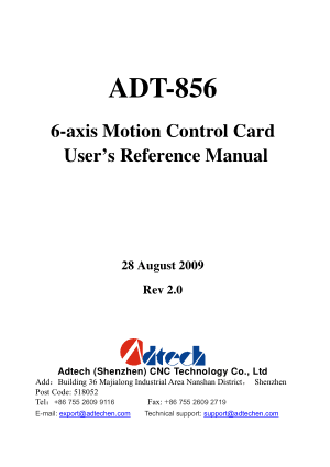 ADT-856 User Reference Manual 6-axis Motion Control Card