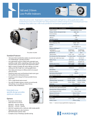 Hardinge 160 and 210mm Low-Profile Indexers