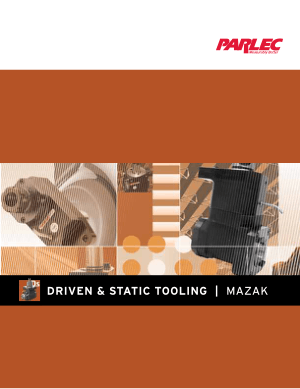 Driven & Static Tooling for Mazak