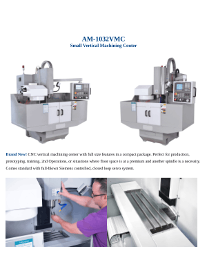 AM-1032VMC Small Vertical Machining Center