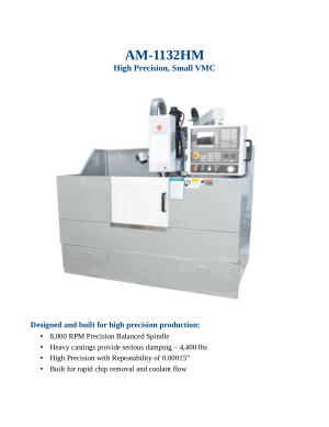 AM-1132HM High Precision Small VMC