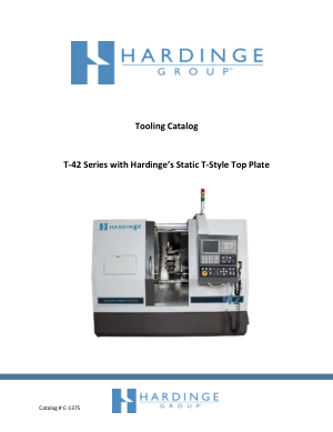 Hardinge Tooling Catalog T-42 Series with Hardinge Static T-Style Top Plate