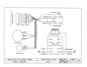 Smithy Granite Max-110 Control Wiring MX ELECTRICAL SCHEMATIC