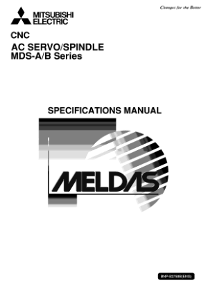 Mitsubishi CNC AC Servo Spindle MDS-A B Series Specification Manual