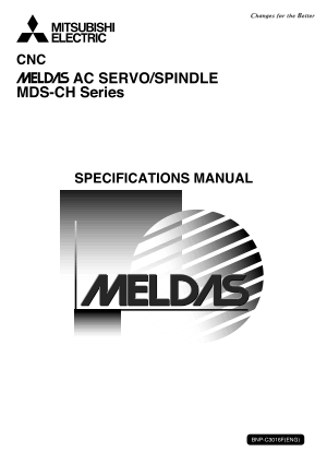 Mitsubishi CNC Meldas AC Servo Spindle MDS-CH Series Specification Manual