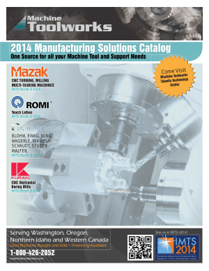Machine Tool Works MTW Product Catalog