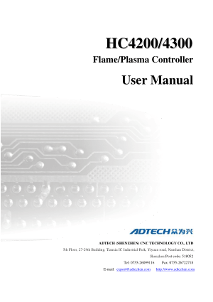 HC4200 4300 Flame Plasma Controller User Manual