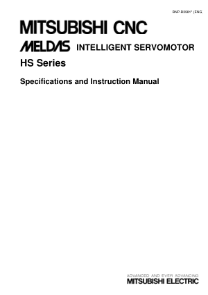 Mitsubishi CNC MELDAS Intellegent Servomotor HS Series Specifications