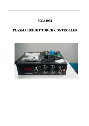 HCA1002 Plasma Height Torch Controller User Manual