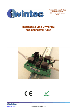 Twintec Interfaccia Line Driver R2 con connettori RJ45